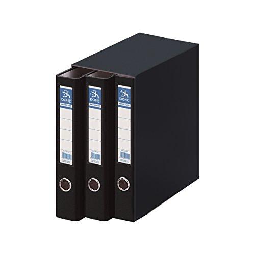 Dohe Archicolor - Módulo 3 archivadores A4, color negro ✅