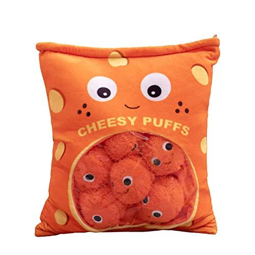 Almohadas bonitas para refrigerios, bolas de queso, juguetes de animales de peluche, bolsa para refrigerios, decorativa, extraíble, juguetes creativos, regalos, cojines para sofá para niñas, niños