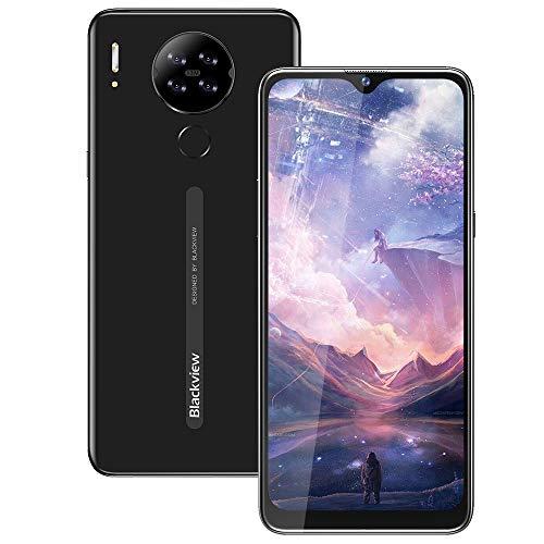 Blackview A80 SIMフリー スマートフォン本体 Android 10.0 GO スマホ本体 6.21インチ ディスプレイ 2GBのRAM + 16GBのROM スマホ 4200mAhバッテリー13MP+5MPカメラ 顔認証 指紋認証 技適認証済 グローバルLTEバンドAU不可 ブラック