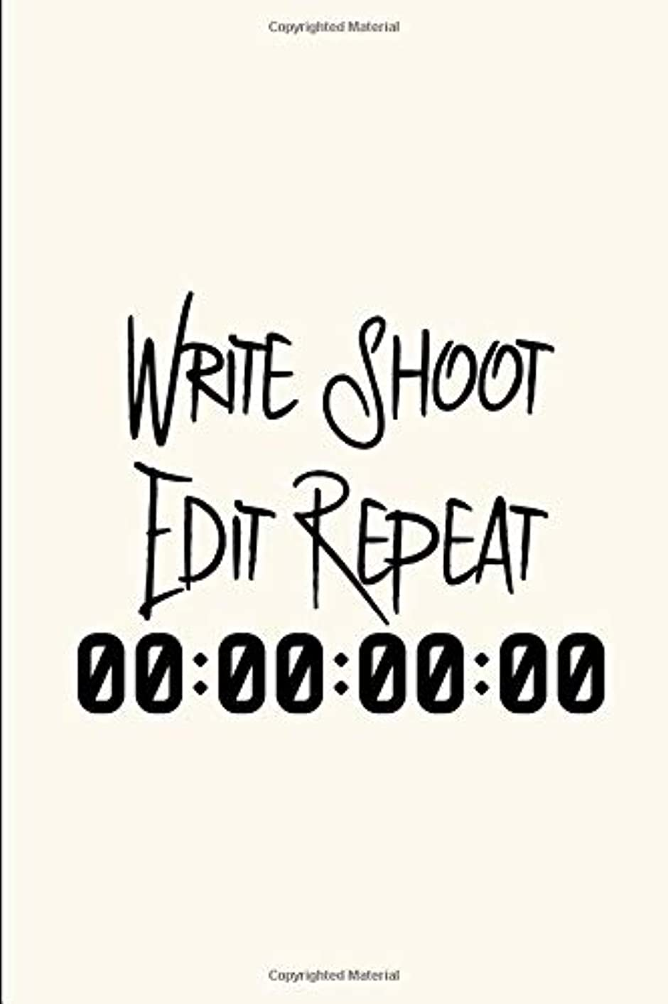 腸乞食ポンドWrite Shoot Edit Video Editing Film School Funny Quote College Ruled Notebook: Blank Lined Journal