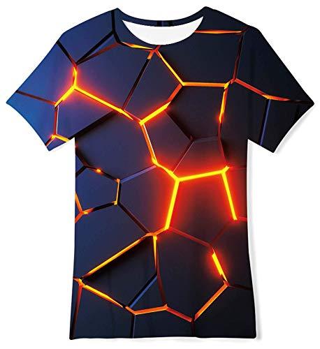 RAISEVERN Enfants garçons 3D Graphique imprimé T-Shirt Crewneck Shirt Manches Courtes Unisexe Tee ,Pizza Cat,6-8T (S)