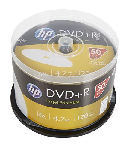 DVD+R 16x disques Vierges imprimables à Jet d'encre (120 Minutes/4,7 Go) - Boîte à 50 disques