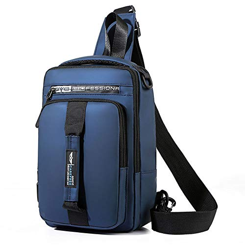 Mochila multifuncional para hombres, bolsa de pecho de gran capacidad, bolsa de mensajero, bandolera, mochila deportiva de ocio, bolsa de estudiante