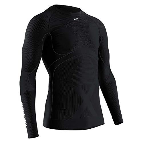 X-BIONIC Energy Accumulator 4.0 Shirt Round Neck Long Sleeves Men T-Shirt de Sport Maillot de Compression Homme Black/Black FR : S (Taille Fabricant : S)