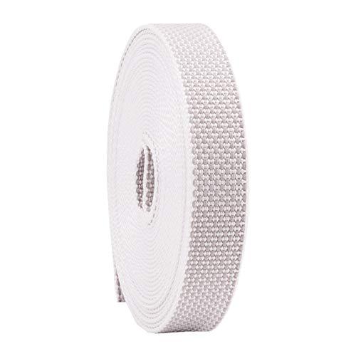 Rollladengurt 22/23 mm in Grau 6m, Verstärkte-Ausführung MADE IN GERMANY, Gurtband für Rolladen und Jalousie, Maxi Rolladengurt strapazier- und reißfest, stabiles Rolladenband