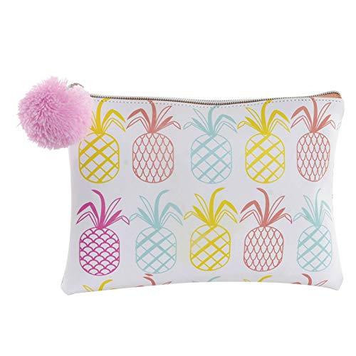 Toilettas met origineel en kleurrijk ananas-design, keuze uit 2 modellen. 22 x 1,5 x 16 cm. Hogarymas- A