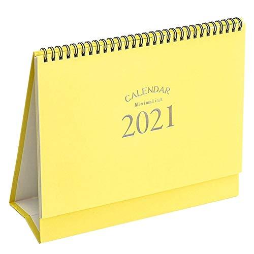 LINGNING Mini Calendario de Escritorio 2021 Creativo Simple Simple Oktop Ornaments Decoración de Trabajo portátil Nota Calendario Año Nuevo Plan (Color : YW)