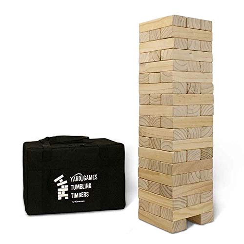 Yard Games Giant Tumbling Timbers with Carrying Case | Starts at 2.5-Feet...