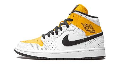 Nike Wmns Air Jordan 1 Mid, Zapatillas de bsquetbol Mujer, White Black Univ Gold, 38.5 EU