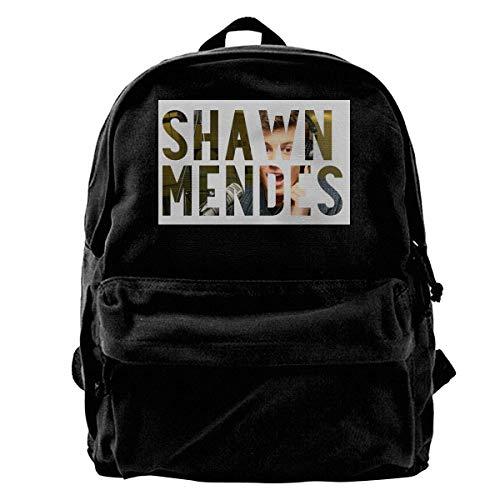 NJIASGFUI Shawn Mendes - Mochila de lona con logo de abanico, para gimnasio, senderismo, portátil, para hombre y mujer