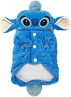 Dog Costume - Winter Warm Pet Cat Dog Clothes for Small Dogs Cartoon Cotton Pet Costume Hoodie Chihuahua Pug Coat Jacket Puppy Clothing Outfit