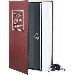 Rapesco money - Caja fuerte portátil de 15 cm de ancho con portamonedas interior & AmazonBasics - Caja de seguridad en forma de libro - Cerradura con llave - Rojo: Amazon.es: Oficina y papelería