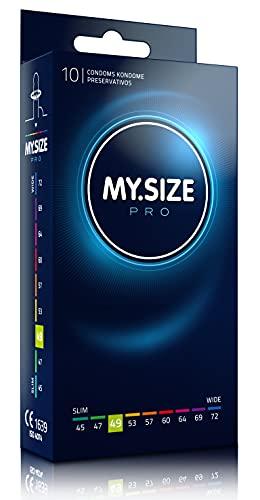 MY.SIZE PRO Kondom 49mm, 10 Stück - Perfekter Sitz und eine Passende Größe für Jeden