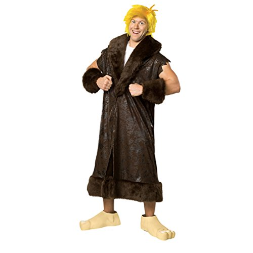 NET TOYS Flintstones Kostüm Barney Geröllheimer Herrenkostüm Fasching Karneval Outfit Verkleidung M/L 48/52