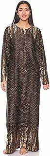 Kady Polka-Dot Print Long Sleeves Maxi Nightgown for Women