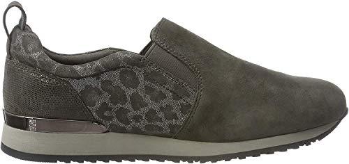 CAPRICE Damen Ginga Slip On Sneaker, Grau (Grey Leo Comb 294), 42 EU