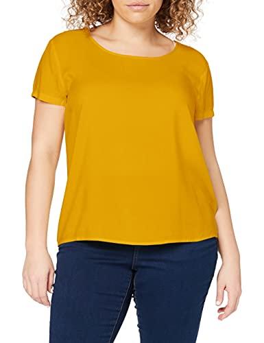 ONLY Damen ONLFIRST ONE Life SS SOLID TOP NOOS WVN T-Shirt, Golden Yellow, 42