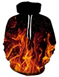 Goodstoworld Coole Feuer 3D Muster Kapuzenpullover Hoodie Herren Damen Slim Fit Grafik Kapuzenpulli...
