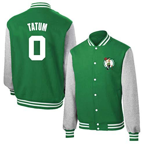 Jayson Tatum# Basketball Top Jacken - Boston Celtics Classic Retro Baseball Shirt für Damen und Herren Batman Basketball Swingman Sweatshirt Gr. L, Tatum0# Green