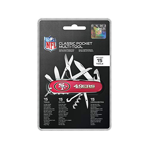 The Sports Vault NFL San Francisco 49ers Classic Pocket Multi-Tool, red, 5.25