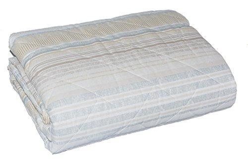 Zucchi Tagesdecke, gesteppt, für Doppelbett, doppelseitig verwendbar, Beige
