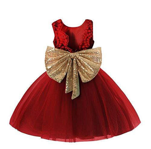 wine red girl dresses - 4