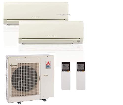 Mitsubishi 27,000 Btu 20 Seer Dual Zone Ductless Mini Split - 12K-15K - Heat Pump System (AC and Heat)