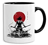 Red Sun Goku -Back tazza tazze da caffè Mug regalo Son Ruffy Luffy Zoro Saitama One Dragon Master Goku Ball Vegeta Roshi Piece Db, Farbe2:Bianco