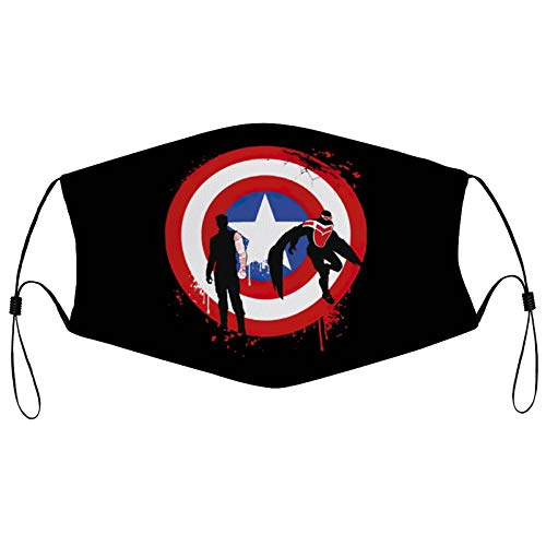 The Falcon And The Winter Soldier Mask Reusable Mouth Cover Adjustable Neck Gaiter Balaclava Face Decor for Men and Women