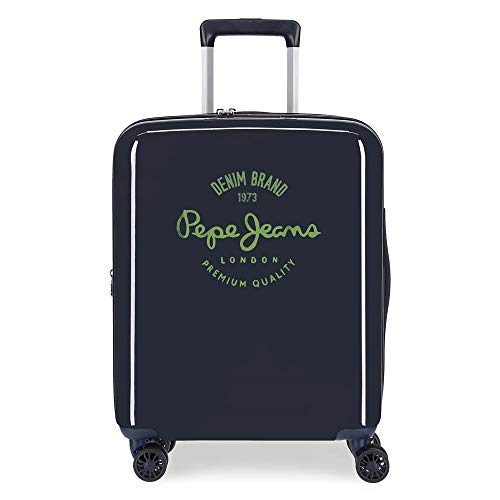 Pepe Jeans Nolan Cabin Suitcase Blue 40 x 55 x 20 cm ABS Rigid Integrated TSA Closure 38.4 L 2 kg 4 Wheels Double Hand Luggage
