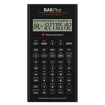 Texas Instruments TI BA II Plus Professional Financial Calculator - 10 Character s  - LCD - Battery Powered IIBAPRO/CLM/4L1/A