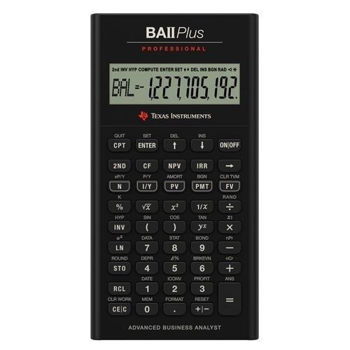 Texas Instruments TI-BA II Plus Professional Calculadora Financiera - 10 Character(s) - LCD - Battery Powered IIBAPRO CLM 4L1 A