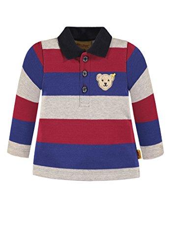 Steiff Jungen 1/1 Arm Poloshirt, Mehrfarbig (Y/d Stripe Multicolored 0001), 116