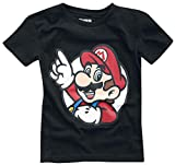 Super Mario It's A Me Kinder & Babies T-Shirt schwarz 110/116