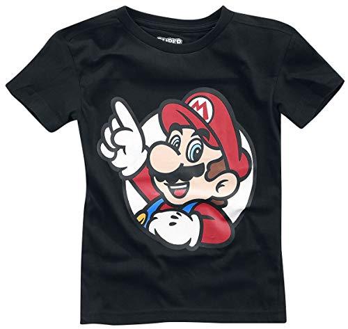 Nintendo T-Shirt It's A Me Mario Kids Boys Black-86/92