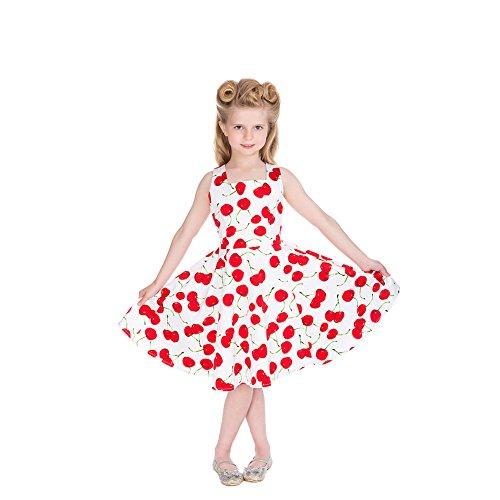 Meisjes H & R Bombshell Cherry Kids Swing Jurk (wit)