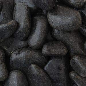 Suregreen Ebony Black Cobbles | 60-120mm | 20kg