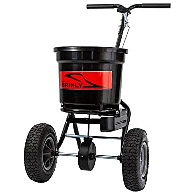 Brinly P20-500BHDF Push Spreader with Side Deflector Kit, 50-Pound Capacity,Black