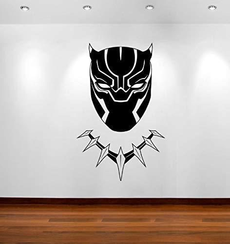 Zwarte Panter Stickers Masker Strips Avengers Kamer Decal muur Vinyl Decals Art Home Decor Stickers voor Kinderen Kamers muurschildering Poster 80 X 50 cm