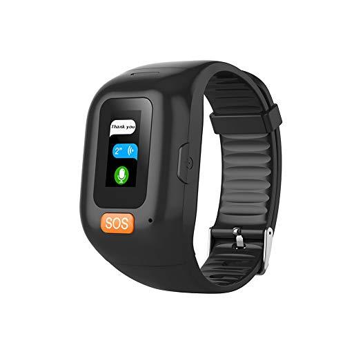 YTBLF Rastreador ubicación GPS para Personas Mayores, frecuencia cardíaca Reloj con Pulsera Inteligente, Pantalla multitáctil, IP67 a Prueba Agua, Llamada Voz bidireccional, Ayuda un Clic SOS