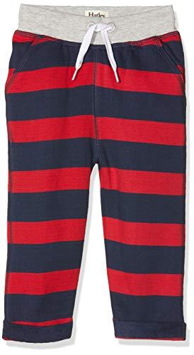 Hatley Joggers Bas de survêtement, Bleu (Crimson Stripe 400), 9-12 Mois (Taille Fabricant: 9M-12M) Bébé garçon