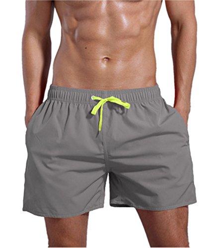 QRANSS Men\'s Swim Trunks Beach Surf Shorts