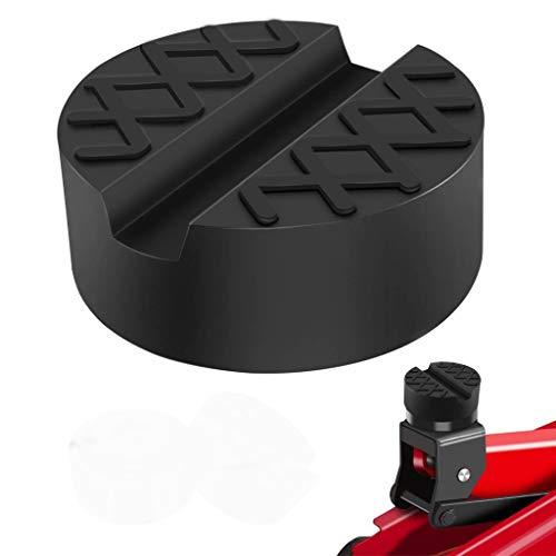 HEQUN Car Jack Pad in gomma,Cuscinetto per cric universale scanalato in gomma per auto, per cric, sistemi di sollevamento di auto e moto e attrezzi da officina, protegge l'auto da graffi e danni