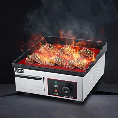 YX Plancha Gril de Cuisine/Poêles Frites Plaque chauffante électrique de comptoir/Plaque chauffante Plate/Barbecue, Plaque chauffante/pour œufs, Bacon, Steak, Saucisses, etc, 1500W