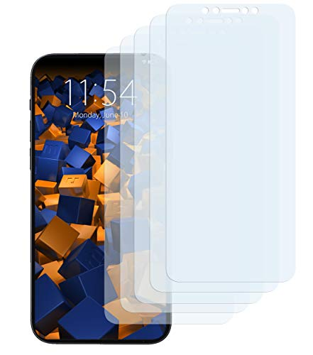 mumbi Schutzfolie kompatibel mit iPhone 12 mini Folie klar, Displayschutzfolie (5x), durchsichtig