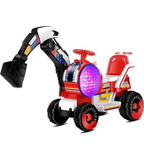 FXQIN Aufsitzbagger Sitzbagger für Kleinkinder, Kinderfahrzeug mit Schaufeln, Kinderauto Bagger, Kinderbagger Sandbagger Schaufelbagger, elektrischer Bulldozer zum Sitzen