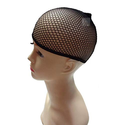 3 PCS Black Wig Net Caps Durable Elastic Mesh Head Cover Mesh Net Fishnet Wig Hat Close End Hair Styling Accessories Unisex for Men and Women