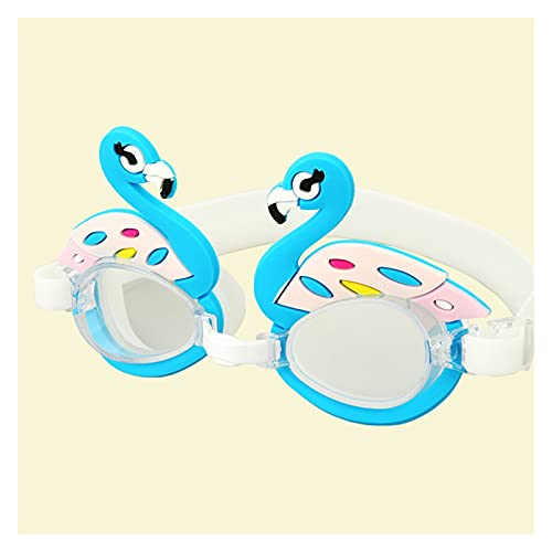 YONGLI Coloridos Niños Ajustables Niños Impermeable Silicona Anti Fog Shield Gafas Gafas Gafas Eyewear Gafas con Caja (Color : Flamingo, Eyewear Size : Children)
