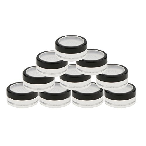 12 Packung Leer Puderdose Kosmetikdose Tiegel Puder Pulver Container mit Sieb