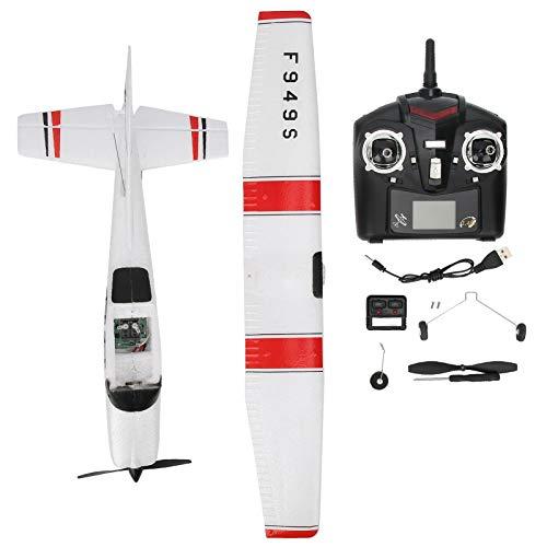 Demeras Planeador de Control Remoto de Avión RC 2.4GHz 3 Canales Micro Avión RC Control Remoto ala Fija para Juguete CESSNA-182